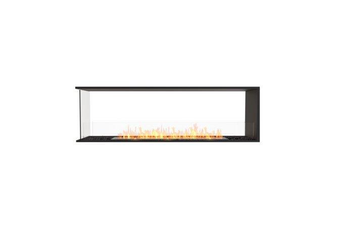 Flex 68PN Peninsula - Ethanol / Black / Installed View by EcoSmart Fire