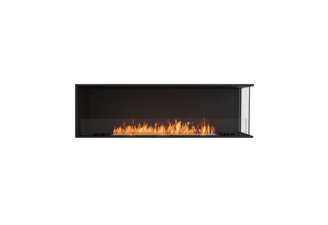 Flex 68RC Right Corner - Ethanol / Black / Installed View by EcoSmart Fire