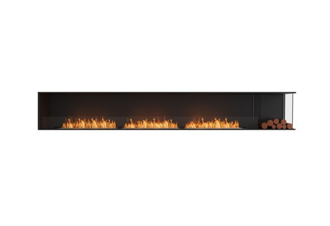 Flex 140RC.BXR Right Corner - Ethanol / Black / Installed View by EcoSmart Fire
