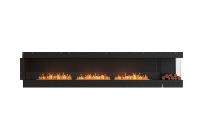 Flex 140RC.BXR Right Corner - Ethanol / Black / Uninstalled View by EcoSmart Fire