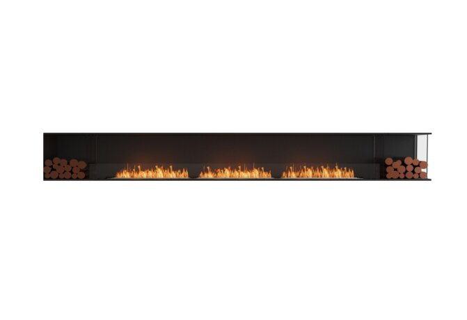 Flex 158RC.BX2 Right Corner - Ethanol / Black / Installed View by EcoSmart Fire