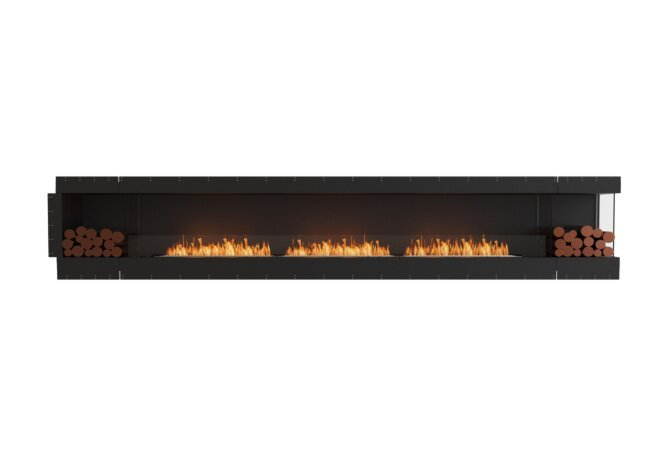 Flex 158RC.BX2 Right Corner - Ethanol / Black / Uninstalled View by EcoSmart Fire