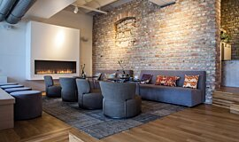 Lobby Hospitality Fireplaces Flex Fireplace Idea