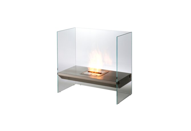 Igloo Designer Fireplace - Ethanol / Stainless Steel by EcoSmart Fire