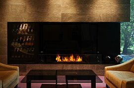 XL1200 Built-In Fireplace - In-Situ Image by EcoSmart Fire