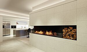 Flex 140LC.BXL Left Corner - In-Situ Image by EcoSmart Fire
