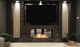 Private Residence Builder Fireplaces Single Sided Idea