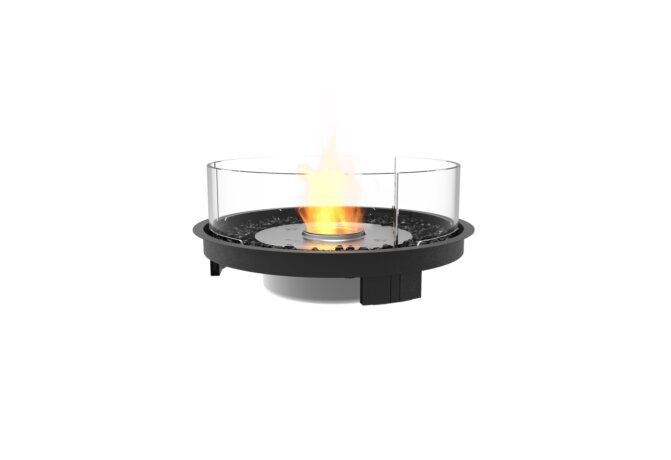 Round 20 Fire Pit Kit - Ethanol / Black by EcoSmart Fire