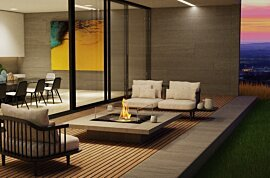 Square 22 Outdoor Fireplace - In-Situ Image by EcoSmart Fire