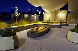 Linear 50 Fire Pit Kit - In-Situ Image by EcoSmart Fire