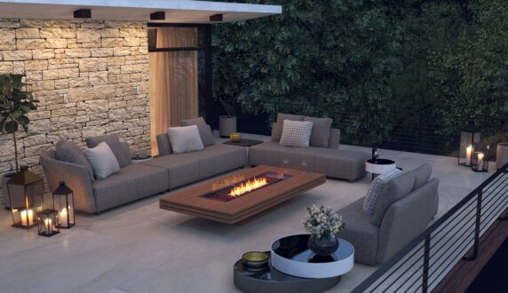 Outdoor entertaining space