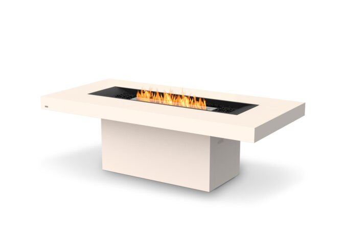 Gin 90 (Dining) Fire Table - Ethanol / Bone / Optional Fire Screen by EcoSmart Fire