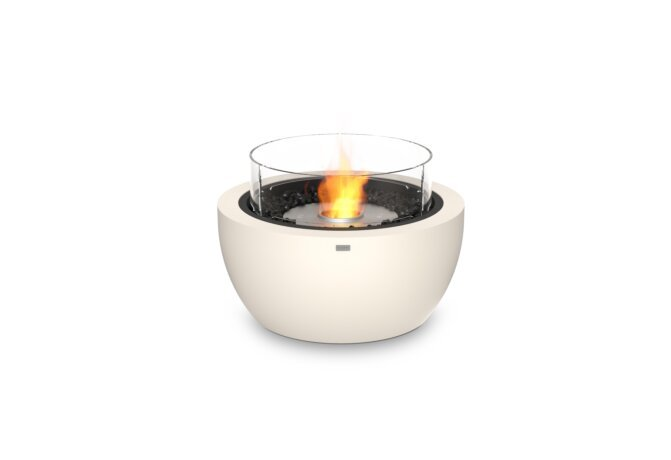 Pod 30 Fire Pit - Ethanol / Bone / Optional Fire Screen by EcoSmart Fire