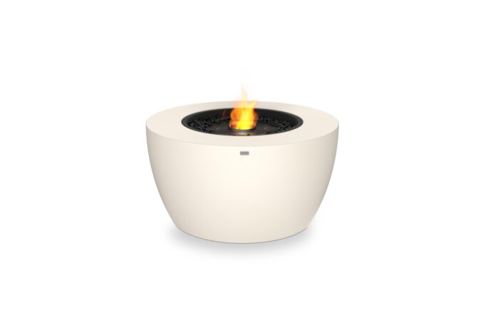 Pod 40 Fire Pit - Ethanol - Black / Bone by EcoSmart Fire