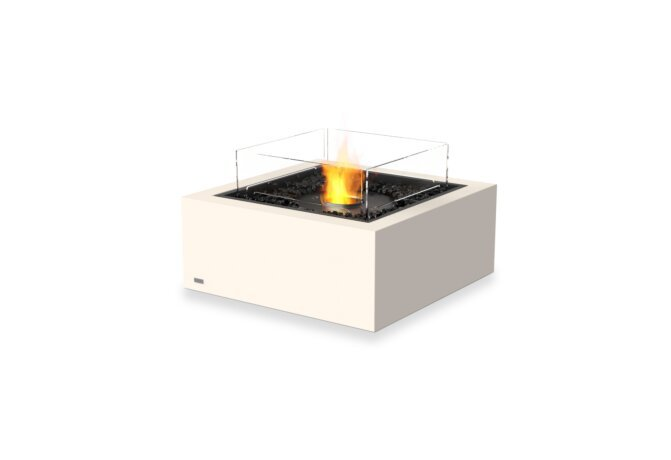 Base 30 Fire Table - Ethanol - Black / Bone / Optional Fire Screen by EcoSmart Fire