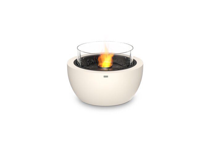Pod 30 Fire Pit - Ethanol - Black / Bone / Optional Fire Screen by EcoSmart Fire