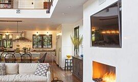 Studio City  Indoor Fireplaces Built-In Fire Idea