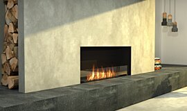 Living Area Linear Fires Built-In Fire Idea