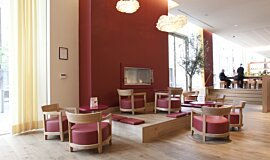 Vapiano, UK  Commercial Fireplaces Built-In Fire Idea
