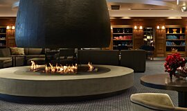 The Estreal Commercial Fireplaces Built-In Fire Idea