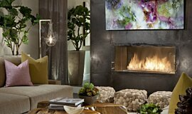 Dream House Indoor Fireplaces Built-In Fire Idea