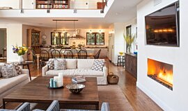 Studio City Builder Fireplaces Built-In Fire Idea