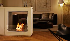 Merkmal Showroom Builder Fireplaces Built-In Fire Idea