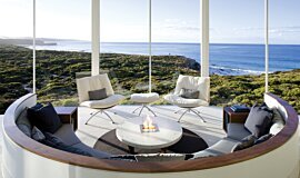 Southern Ocean Lodge Builder Fireplaces Built-In Fire Idea