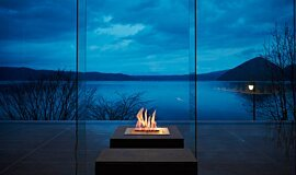 The Lake View Toya Nonokaze Resort Landscape Fireplaces Ethanol Burner Idea