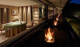 Hiramatsu Hotel & Resorts Fluid Concrete Technology Fire Pit Idea