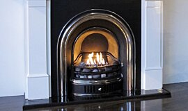 Private Residence Traditional Fireplaces Built-In Fire Idea