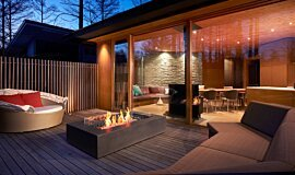 Private Residence Landscape Fireplaces Fire Table Idea