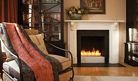 Private Residence Builder Fireplaces Built-In Fire Idea