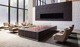 707 Wilshire Los Angeles Builder Fireplaces Built-In Fire Idea
