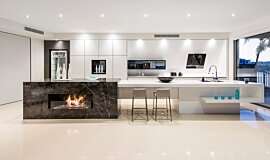 Enigma Interiors Builder Fireplaces Built-In Fire Idea