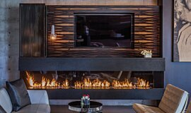 Hillside Residence Residential Fireplaces Ethanol Burner Idea