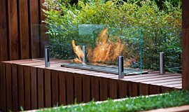 Melbourne International Flower and Garden Show Builder Fireplaces Built-In Fire Idea