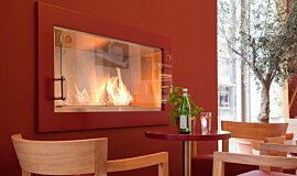 Vapiano, UK Linear Fires Fireplace Insert Idea