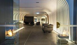 SKYE Suites Sydney See-Through Fireplaces Designer Fireplace Idea