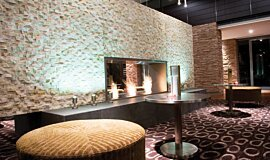 Crowne Plaza Hotel See-Through Fireplaces Fireplace Insert Idea