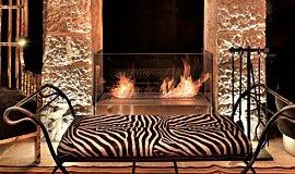 Villa Brown Jerusalem Hotel See-Through Fireplaces Designer Fireplace Idea