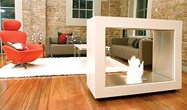Jacksons Landing See-Through Fireplaces Designer Fireplace Idea