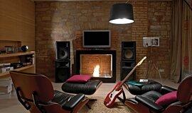Cottage Lösch für Freunde See-Through Fireplaces Designer Fireplace Idea