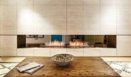 Fujiya Mansions See-Through Fireplaces Ethanol Burner Idea