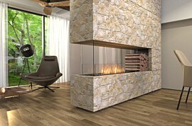 Peninsula Fireplace - In-Situ Image by EcoSmart Fire