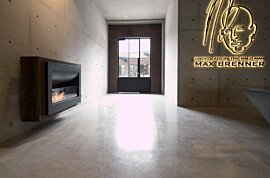 Firebox 1100CV Curved Fireplace - In-Situ Image by EcoSmart Fire