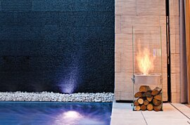 Ghost Modern Fireplace - In-Situ Image by EcoSmart Fire