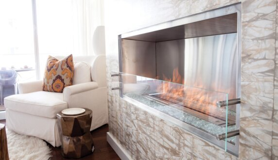 W Residence - Firebox 1200SS Premium Fireplace by EcoSmart Fire