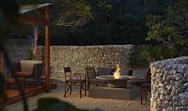 Okinawa Resort Landscape Fireplaces Fire Pit Idea
