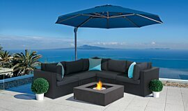 Paulas Home Living Landscape Fireplaces Fire Table Idea